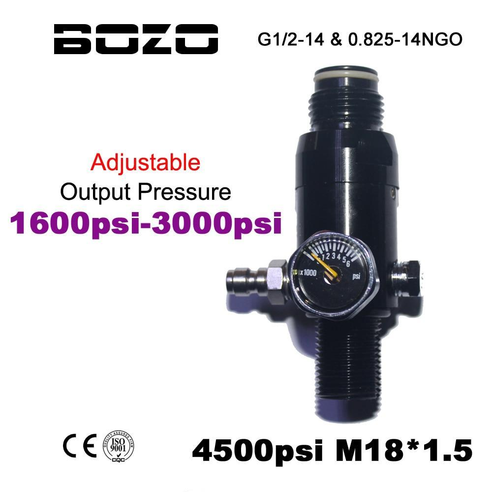 Paintball Airsoft Pcp Co2 4500Psi Air Compressed Air Cylinder Tank Regulator-BOZO Official Store-only regulator-Bargain Bait Box