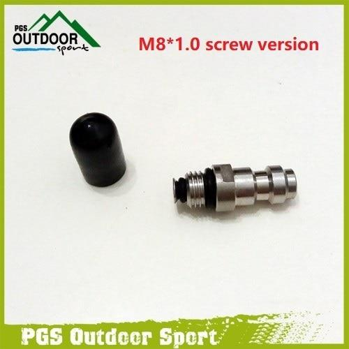 Paintball Pcp Stainless Steel 8Mm Fill Nipple One Way Foster 1/8Npt Or 1/8Bspp-ZimaKyfa Store-M8 screw type-Bargain Bait Box