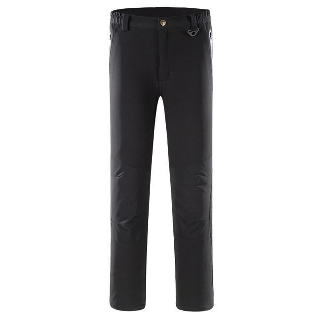 Pants Men Sports Trekking Overalls Trousers Climbing Fishing Waterproof Fleece-Pants-Bargain Bait Box-black-S-Bargain Bait Box