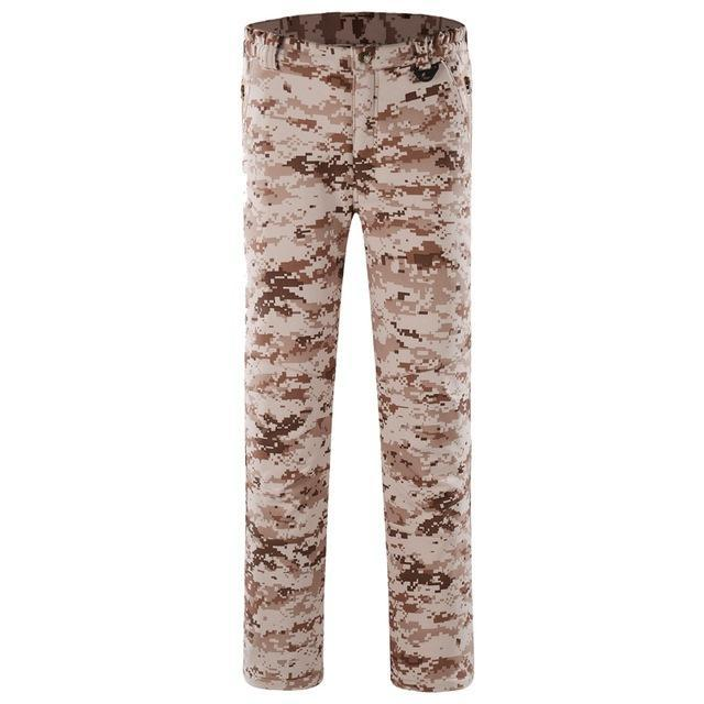 Pants Men Sports Trekking Overalls Trousers Climbing Fishing Waterproof Fleece-Pants-Bargain Bait Box-Desert digital-S-Bargain Bait Box