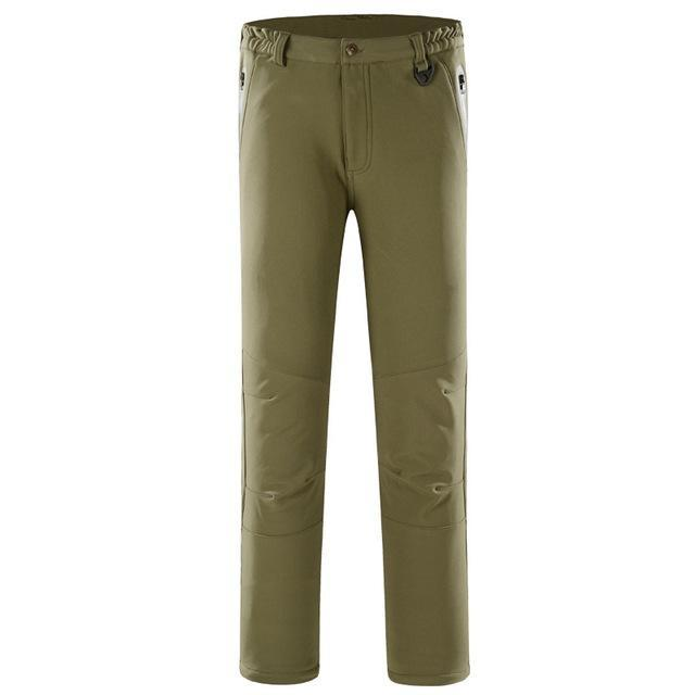Pants Men Sports Trekking Overalls Trousers Climbing Fishing Waterproof Fleece-Pants-Bargain Bait Box-green-S-Bargain Bait Box