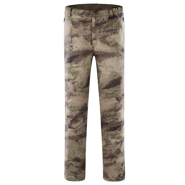 Pants Men Sports Trekking Overalls Trousers Climbing Fishing Waterproof Fleece-Pants-Bargain Bait Box-ruins of camouflage-S-Bargain Bait Box