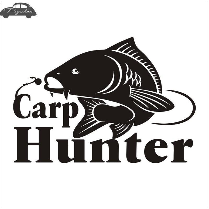 Pegatina Hunter Decal Angling Hollow Sticker Fish Fishing Boat Car Window-Fishing Decals-Bargain Bait Box-Black-58x83cm-Bargain Bait Box