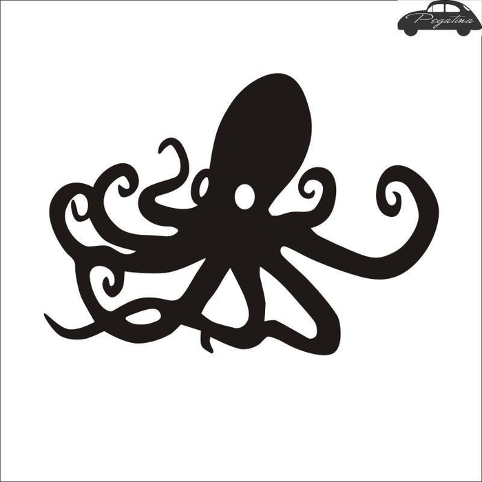 Pegatina Octopus Decal Angling Hollow Sticker Fish Fishing Boat Car Window Vinyl-Fishing Decals-Bargain Bait Box-Black-58x81cm-Bargain Bait Box