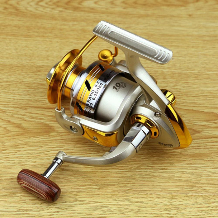 Pesca Reel Metal Spool Spinning Reel12Bb 5.5:1 / 5.2:1 Carp Fishing Wheel Sea-Spinning Reels-HD Outdoor Equipment Store-1000 Series-Bargain Bait Box