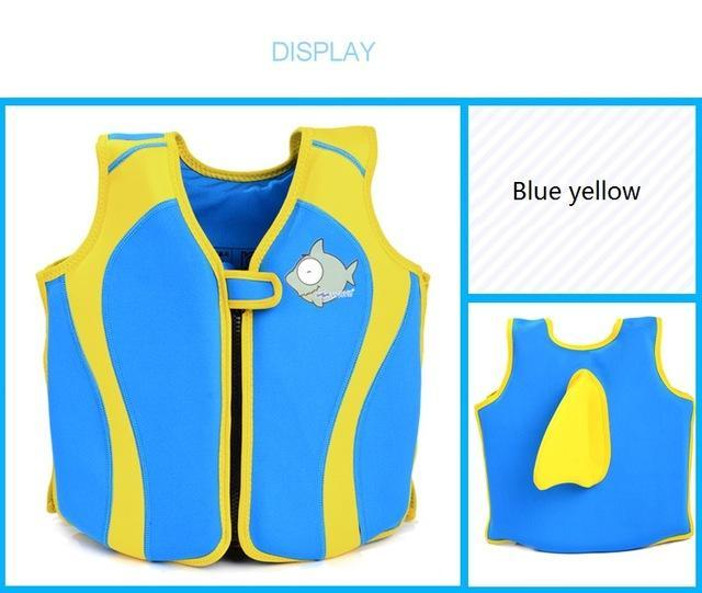 Pfd Children'S Baby For Kids Child Swim Trainer Buoyancy Swim Swimsuit-Life Jackets-Bargain Bait Box-blue and yellow-S 10 to 15 KG-Bargain Bait Box
