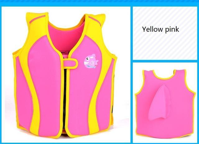 Pfd Children'S Baby For Kids Child Swim Trainer Buoyancy Swim Swimsuit-Life Jackets-Bargain Bait Box-pink and yellow-S 10 to 15 KG-Bargain Bait Box