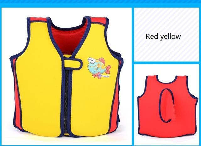 Pfd Children'S Baby For Kids Child Swim Trainer Buoyancy Swim Swimsuit-Life Jackets-Bargain Bait Box-yellow and red-S 10 to 15 KG-Bargain Bait Box