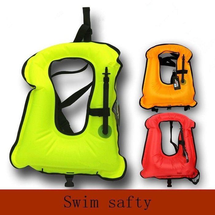 Pfd Free Size T Inflatable Snorkeling Buoyancy Swimming-Life Jackets-Bargain Bait Box-Green-M-Bargain Bait Box