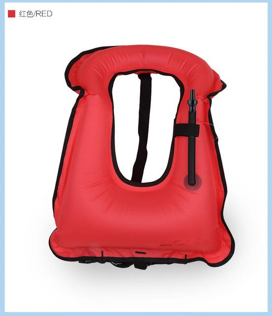 Pfd Free Size T Inflatable Snorkeling Buoyancy Swimming-Life Jackets-Bargain Bait Box-Red-M-Bargain Bait Box