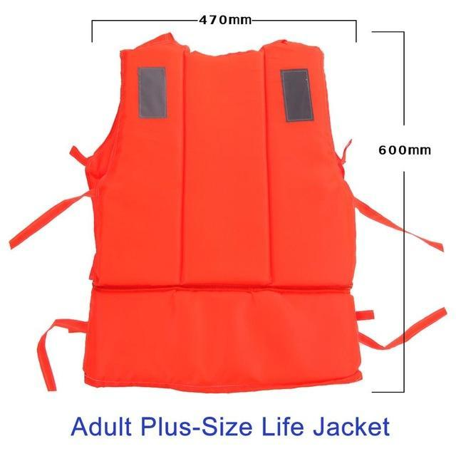 Pfd Kids To T Plus Size Red With Survival Whistle Water Sports Foam For Drifting-Life Jackets-Bargain Bait Box-Adult Plus Size-Bargain Bait Box