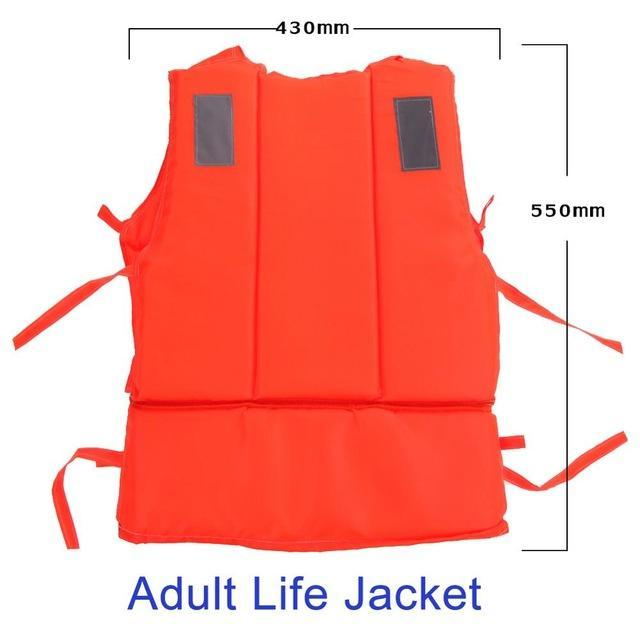 Pfd Kids To T Plus Size Red With Survival Whistle Water Sports Foam For Drifting-Life Jackets-Bargain Bait Box-Adult Size-Bargain Bait Box