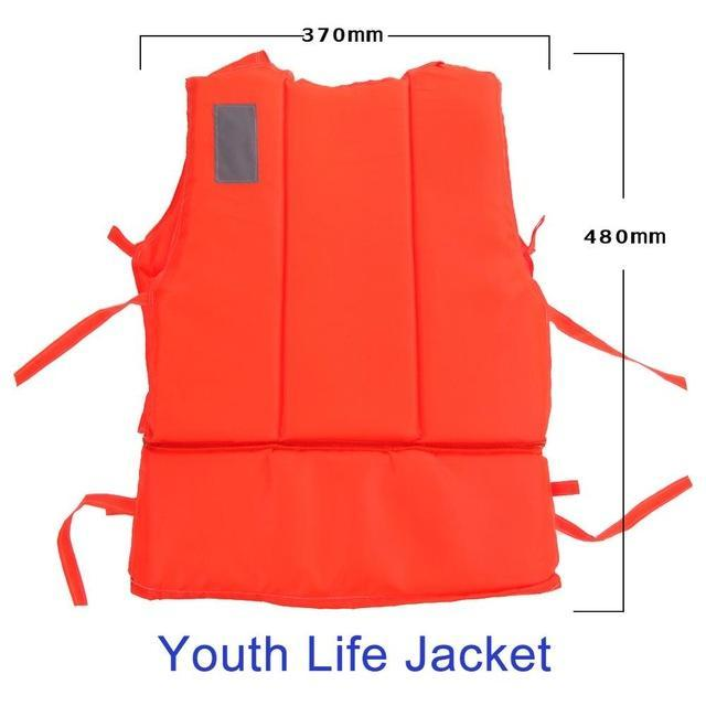 Pfd Kids To T Plus Size Red With Survival Whistle Water Sports Foam For Drifting-Life Jackets-Bargain Bait Box-Youth Size-Bargain Bait Box