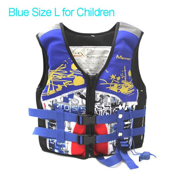 Pfd Manner For Kids Children For Swimming Kayak S Boy & Girl Water Sports Safety-Life Jackets-Bargain Bait Box-Blue L for Children-China-Bargain Bait Box