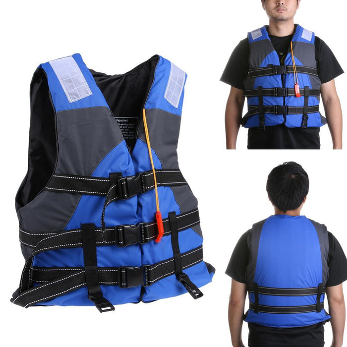 Pfd T Polyester Swimming With Whistle For Drifting Boating Survival Fishing-Life Jackets-Bargain Bait Box-Bargain Bait Box