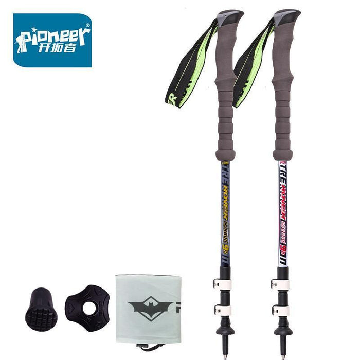 Pioneer Carbon Fiber Ultra-Light Adjustable Camping Hiking Walking Trekking-BOB Sport Products Co., Ltd.-white Alpenstock-Bargain Bait Box