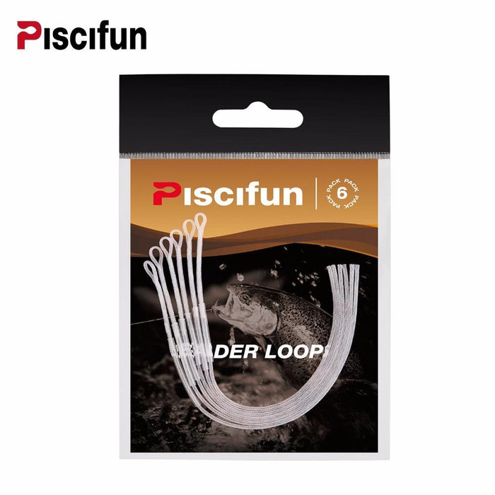 Piscifun 20Lb Fly Loop 6 Pcs/Pack Braided Fly Leader Loop Connectors Fly Line-P-iscifun Fishing Tackle Store-Clear-Bargain Bait Box