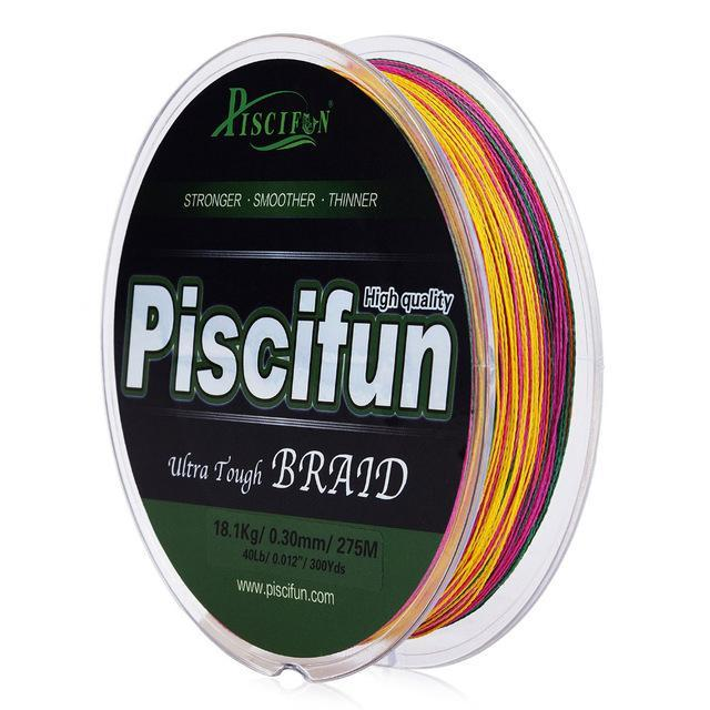 Piscifun 274M Fishing Line 10-150Lb Super Strong Pe Braided Fishing Line Blue-Piscifun Official Store-Multi-0.6-Bargain Bait Box