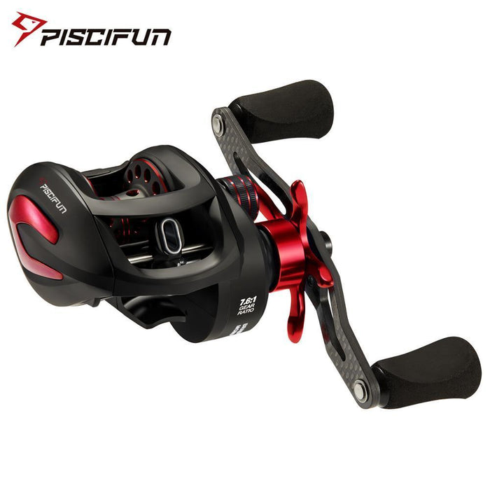 Piscifun Phantom X Baitcasting Reel Multicolor 3 Gear Ratios Low Profile Fishing-Fishing Reels-Piscifun Official Store-Black Blue 5.3-Left Hand-China-Bargain Bait Box