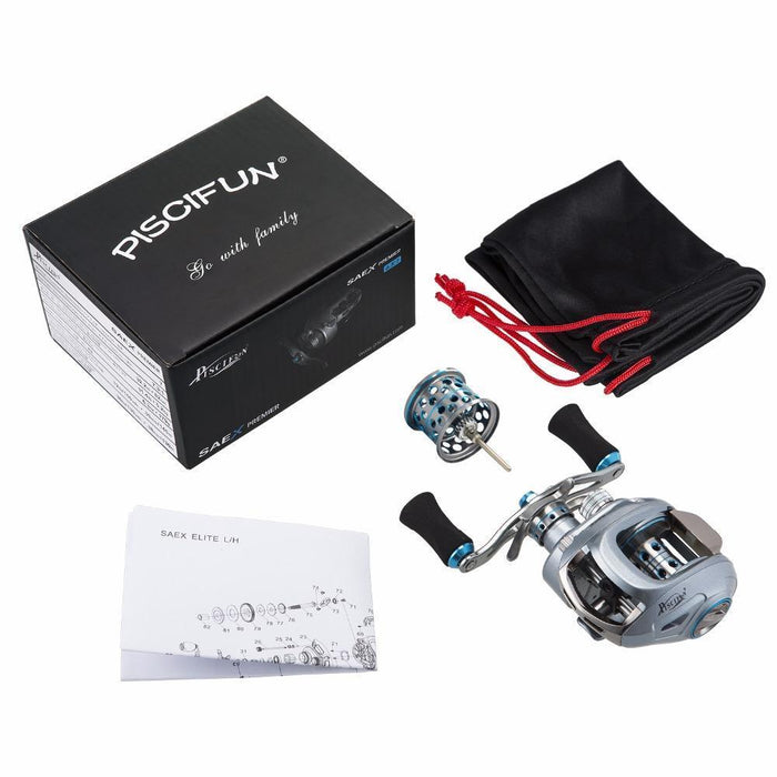 Piscifun Premier Fishing Reel Extra Light Spool 6.5: 1 Gear Ratio Magnetic Brake-Baitcasting Reels-Piscifun Official Store-Left Hand-Bargain Bait Box
