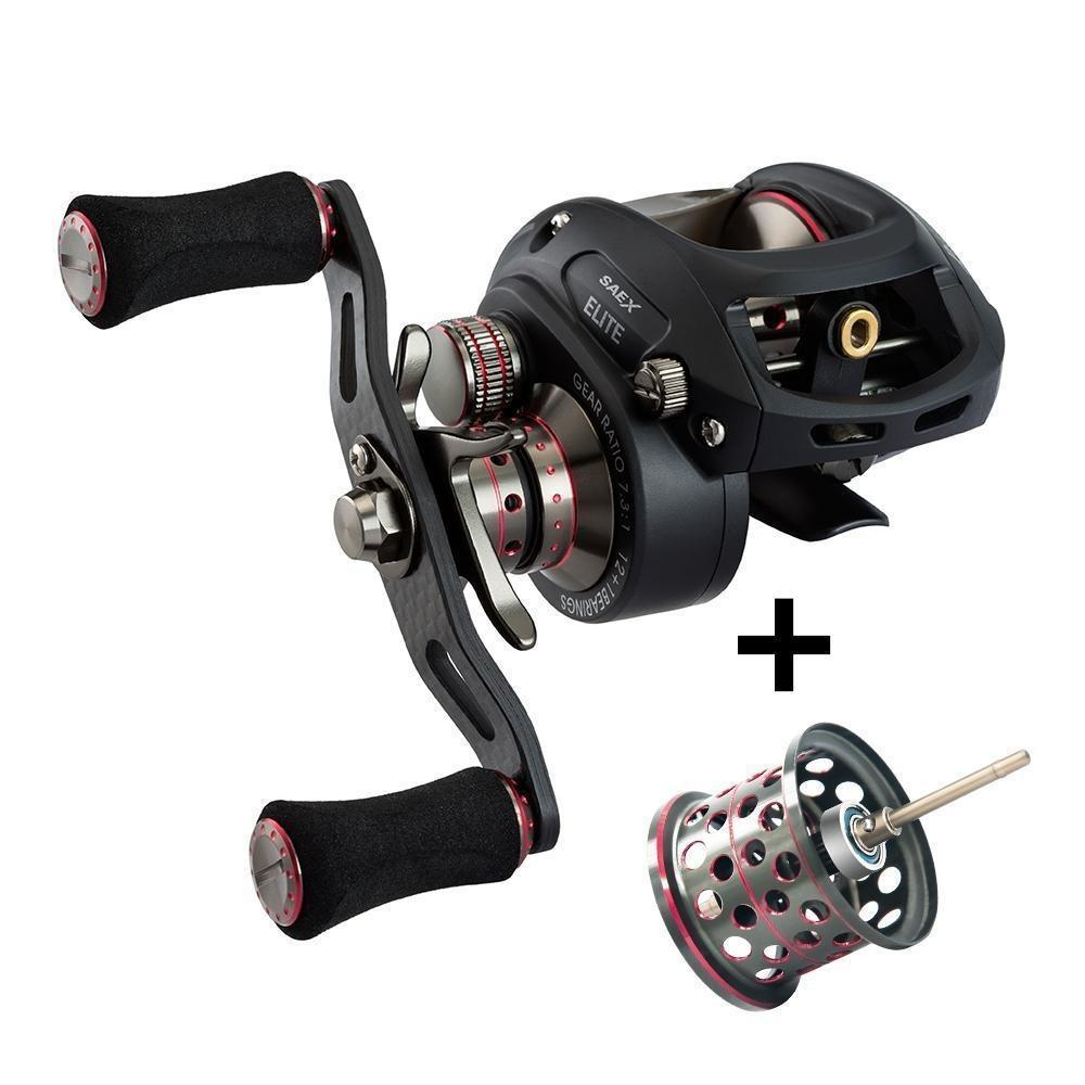 Piscifun Saex Elite Baitcasting Fishing Reel With Extra Spool Right Left Hand-Baitcasting Reels-P-iscifun Fishing Tackle Store-Left Hand-Bargain Bait Box