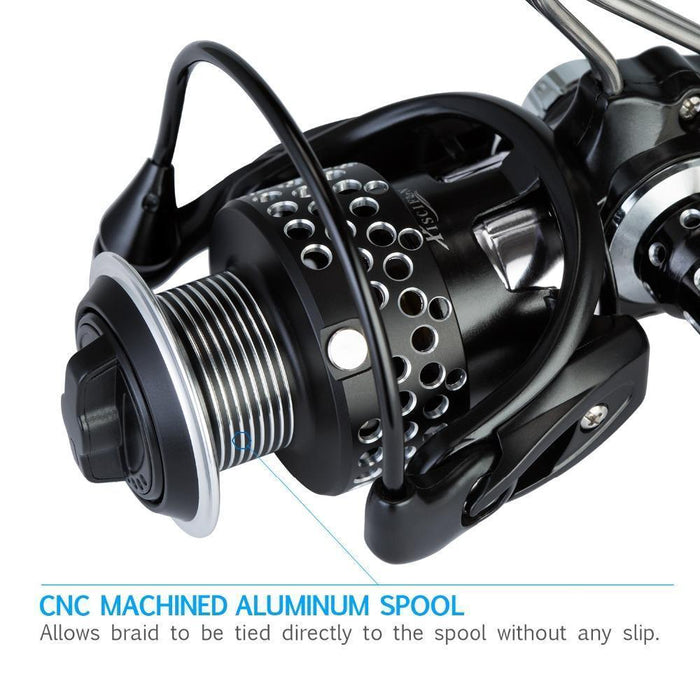 Piscifun Steel Feeling Spinning Reel Super Light Weight Full Metal Body Max-Spinning Reels-P-iscifun Fishing Tackle Store-2000 Series-Bargain Bait Box