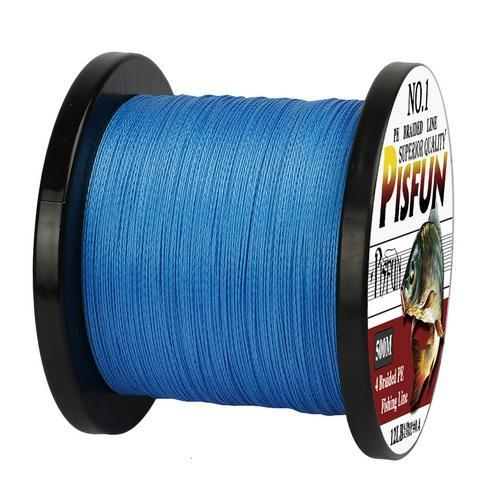 Pisfun Brand 4X Braided Fishing Line 500M Strong Multifilament Fishing Line 12Lb-Goture Fishing Store-Blue-0.6-Bargain Bait Box