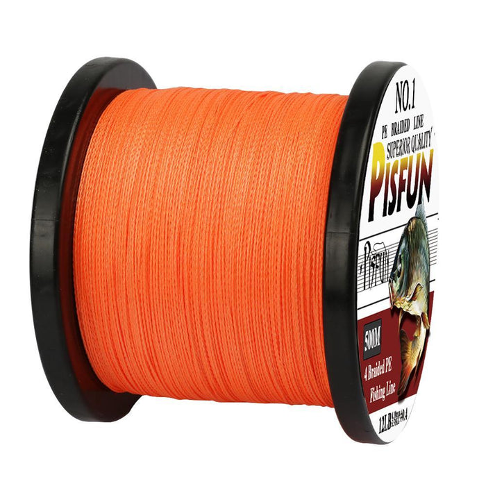 Pisfun Brand 4X Braided Fishing Line 500M Strong Multifilament Fishing Line 12Lb-Goture Fishing Store-White-0.6-Bargain Bait Box