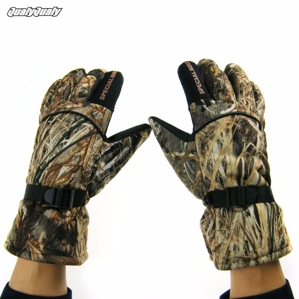Plus Velvet Thick Gloves Camo Windproof Waterproof Anti-Slip Camo Movement-Gloves-Bargain Bait Box-XL-Bargain Bait Box