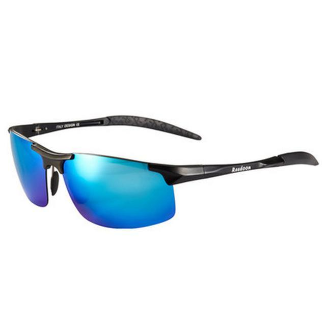 Polarized Men'S Sunglasses Aluminum Magnesium Frame Car Driving Sunglasses Men-Polarized Sunglasses-Bargain Bait Box-Black and blue-Bargain Bait Box