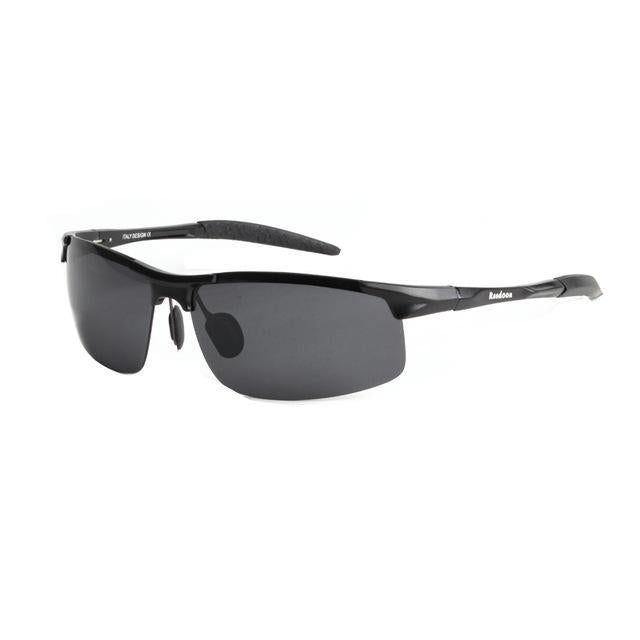 Polarized Men'S Sunglasses Aluminum Magnesium Frame Car Driving Sunglasses Men-Polarized Sunglasses-Bargain Bait Box-Black and grey-Bargain Bait Box