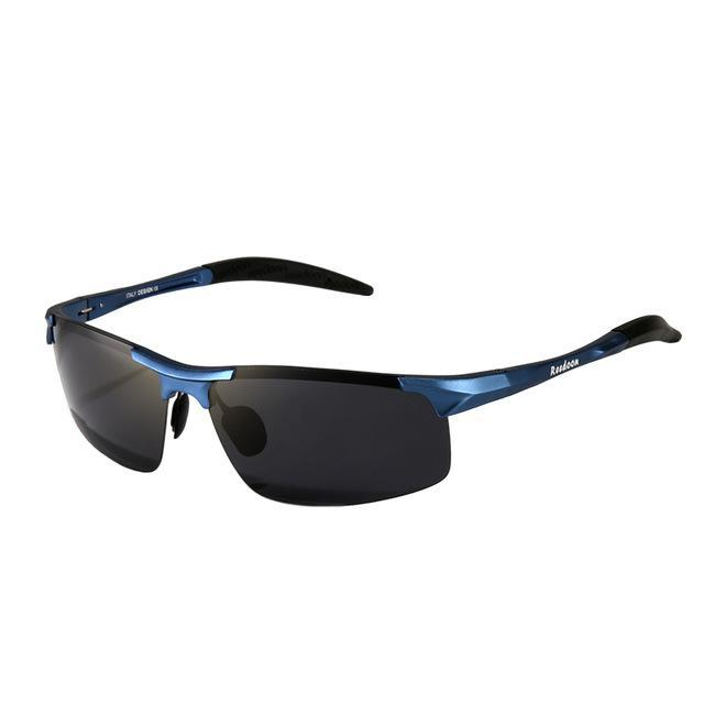 Polarized Men'S Sunglasses Aluminum Magnesium Frame Car Driving Sunglasses Men-Polarized Sunglasses-Bargain Bait Box-Blue and grey-Bargain Bait Box