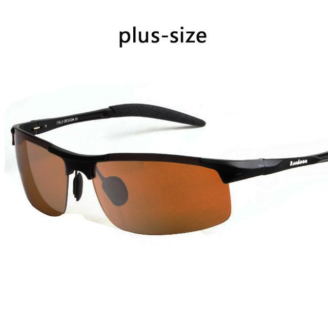 Polarized Men'S Sunglasses Aluminum Magnesium Frame Car Driving Sunglasses Men-Polarized Sunglasses-Bargain Bait Box-Dark yellow BIG-Bargain Bait Box