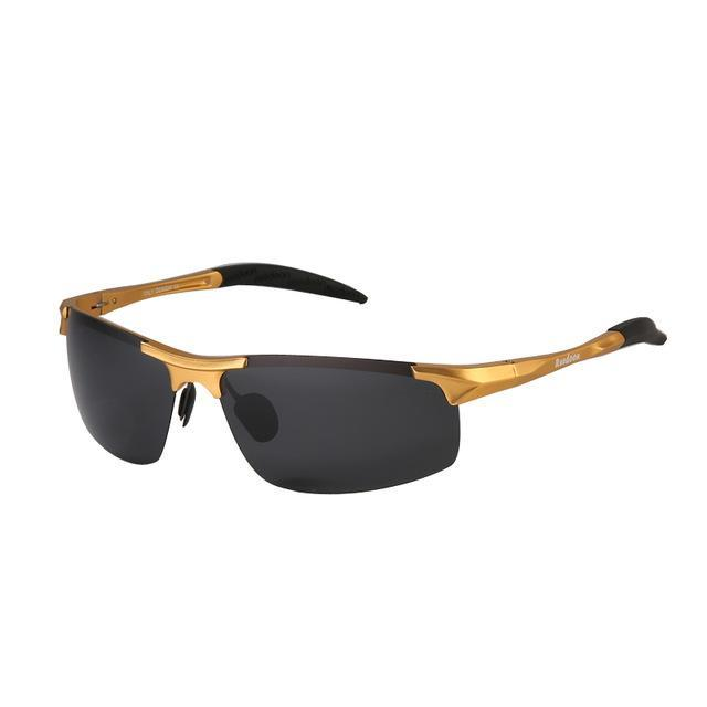 Polarized Men'S Sunglasses Aluminum Magnesium Frame Car Driving Sunglasses Men-Polarized Sunglasses-Bargain Bait Box-Gold and grey-Bargain Bait Box
