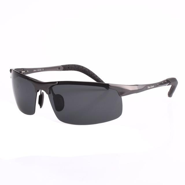 Polarized Men'S Sunglasses Aluminum Magnesium Frame Car Driving Sunglasses Men-Polarized Sunglasses-Bargain Bait Box-Gun and grey-Bargain Bait Box