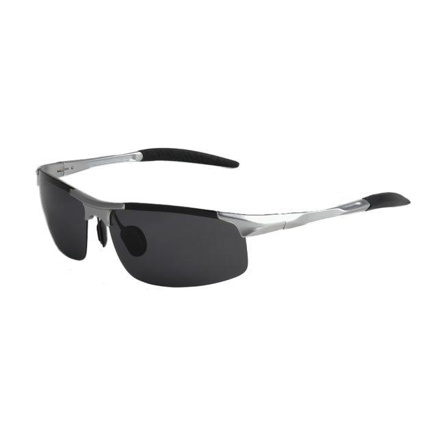 Polarized Men'S Sunglasses Aluminum Magnesium Frame Car Driving Sunglasses Men-Polarized Sunglasses-Bargain Bait Box-Silver and grey-Bargain Bait Box