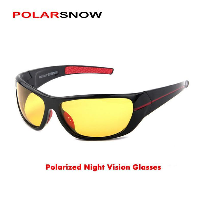 Polarsnow Polarized Night Driving Glasses Men Polaroid Night Vision Eyewear-Polarized Sunglasses-Bargain Bait Box-Red-Bargain Bait Box