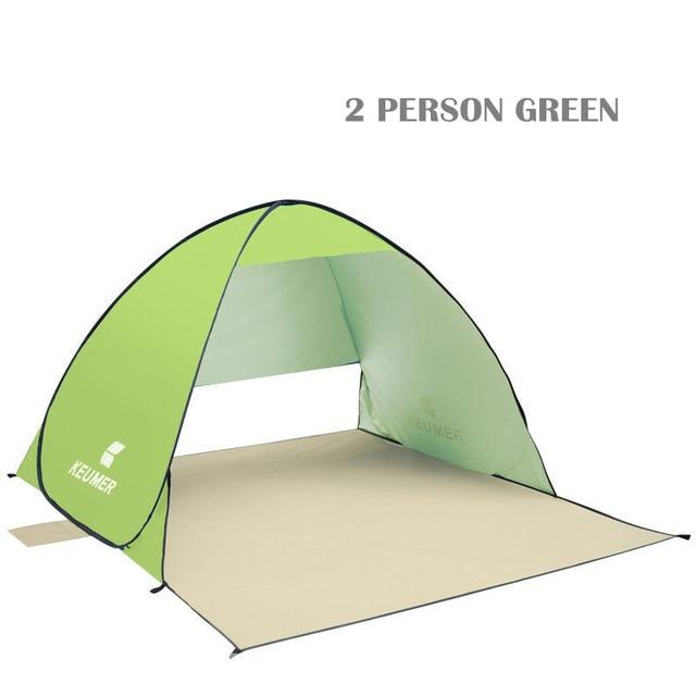 Pop Up Open Tent Uv-Protect Gazebo Waterproof Quick Open Shade Canopy-Tents-WIDESEA outdoor store-green 2PERSON-Bargain Bait Box