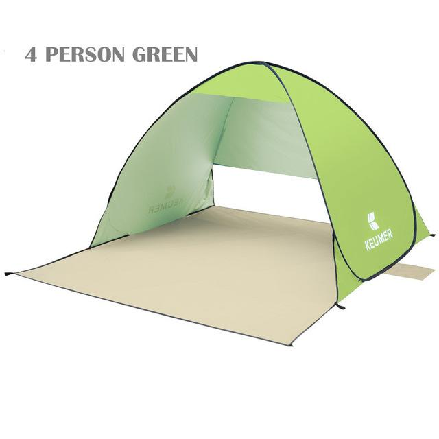 Pop Up Open Tent Uv-Protect Gazebo Waterproof Quick Open Shade Canopy-Tents-WIDESEA outdoor store-green 4PERSON-Bargain Bait Box
