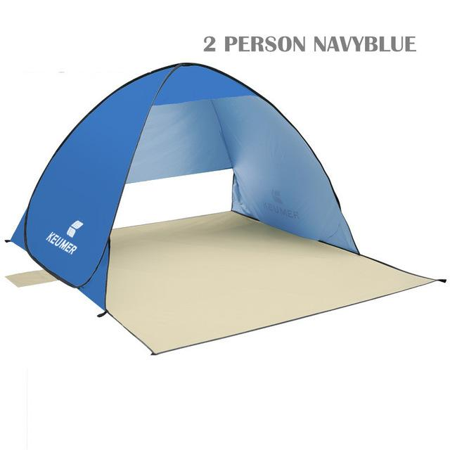 Pop Up Open Tent Uv-Protect Gazebo Waterproof Quick Open Shade Canopy-Tents-WIDESEA outdoor store-navy 2PERSON-Bargain Bait Box
