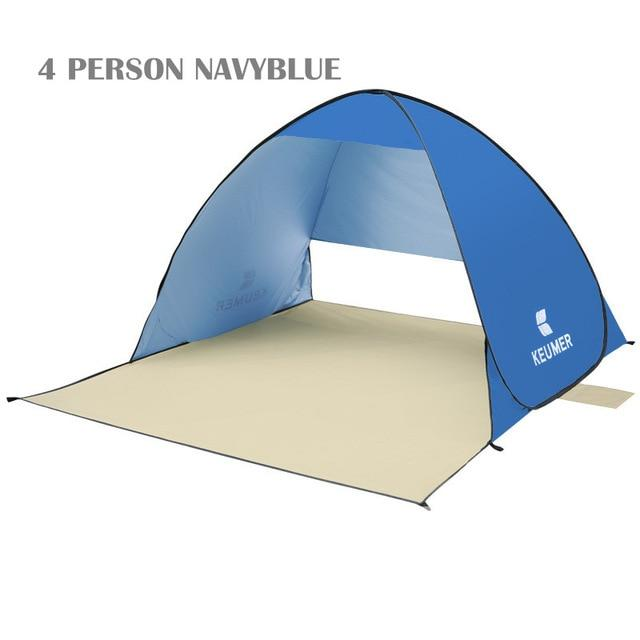 Pop Up Open Tent Uv-Protect Gazebo Waterproof Quick Open Shade Canopy-Tents-WIDESEA outdoor store-navy 4PERSON-Bargain Bait Box