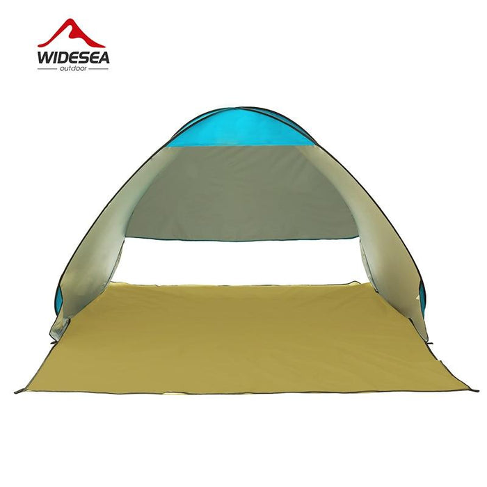 Pop Up Open Tent Uv-Protect Gazebo Waterproof Quick Open Shade Canopy-Tents-WIDESEA outdoor store-silver 2PERSON-Bargain Bait Box