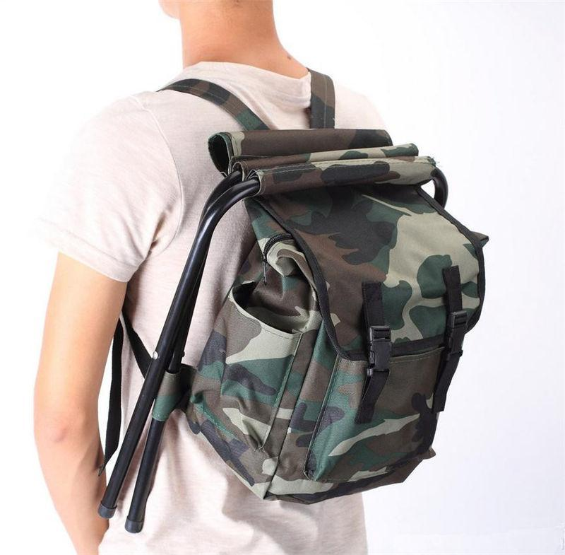 Portable Camo Bags Chair Oxford Cloth Steel Tube Light Weight Camping Fishing-Backpacks-Bargain Bait Box-Bargain Bait Box