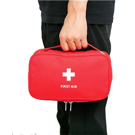 Portable Empty First Aid Bag Kit Pouch Home Medical Emergency Rescue Case Bag-Emergency Tools & Kits-Bargain Bait Box-Red-Bargain Bait Box