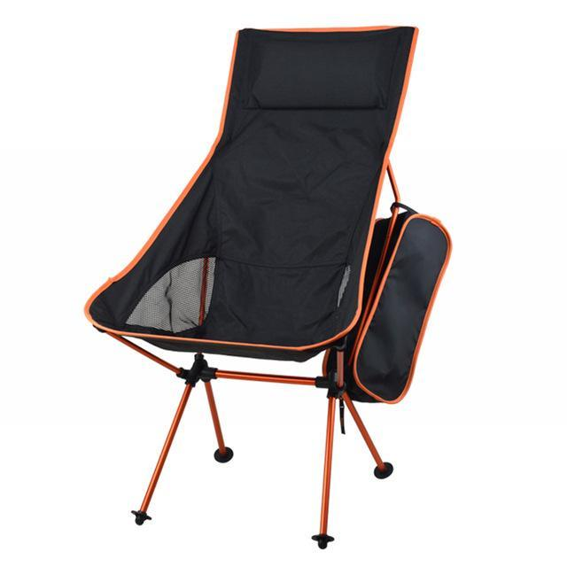 Portable Folding Chairs Fishing Camping Chair Seat 600D Oxford Cloth-Actaid Fishing Store-Orange-Bargain Bait Box