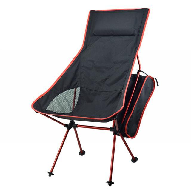 Portable Folding Chairs Fishing Camping Chair Seat 600D Oxford Cloth-Actaid Fishing Store-Red-Bargain Bait Box