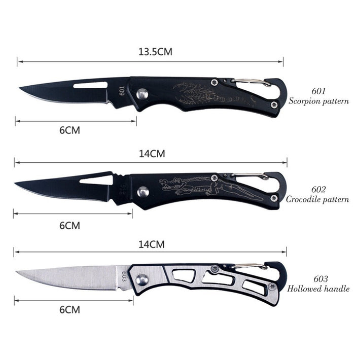 Portable Folding Knife Tactical Rescue Survival Hunting Stainless Handle Outdoor-LoveOutdoor Store-601 Scorpion-Bargain Bait Box