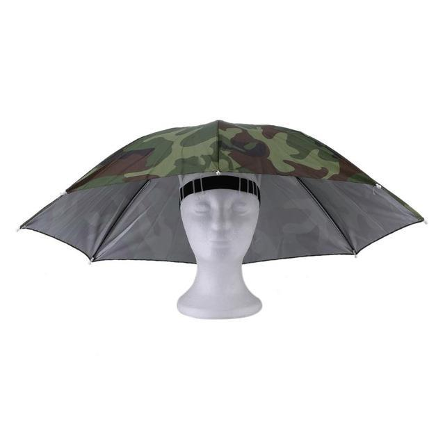 Portable Sports 69Cm Umbrella Hat Cap Folding Women Men Umbrella Fishing Golf-Hats-Bargain Bait Box-1-S-Bargain Bait Box