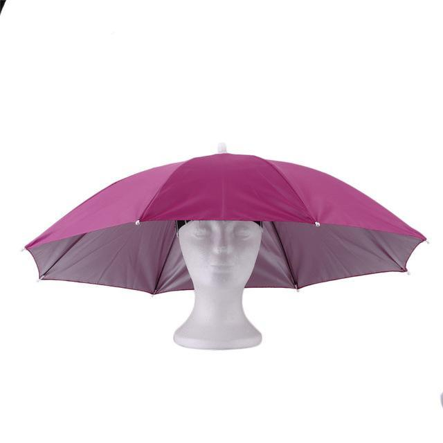 Portable Sports 69Cm Umbrella Hat Cap Folding Women Men Umbrella Fishing Golf-Hats-Bargain Bait Box-2-S-Bargain Bait Box