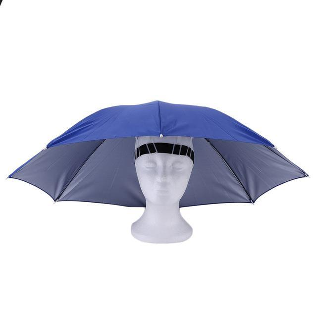 Portable Sports 69Cm Umbrella Hat Cap Folding Women Men Umbrella Fishing Golf-Hats-Bargain Bait Box-3-S-Bargain Bait Box